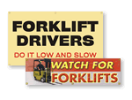 Forklift Safety Banners