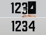Self-Aligning Numbers or Letters