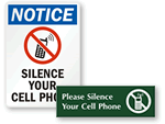 Silence Your Cell Phone Signs