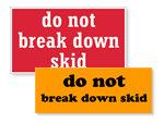 Skid Labels