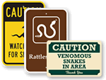 Snake Warning Signs
