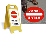 Do Not Enter Floor Signs