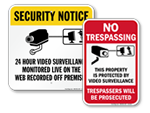 Remote Surveillance Signs