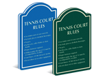 Tennis Rules Signs