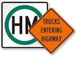 Truck Traffic Warning Signs