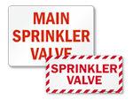 Sprinkler Valve Signs