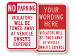 You Will Be Towed Signs