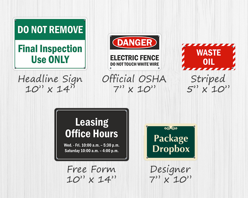 Custom Plastic Signs - Custom Office Door & Interior Signs