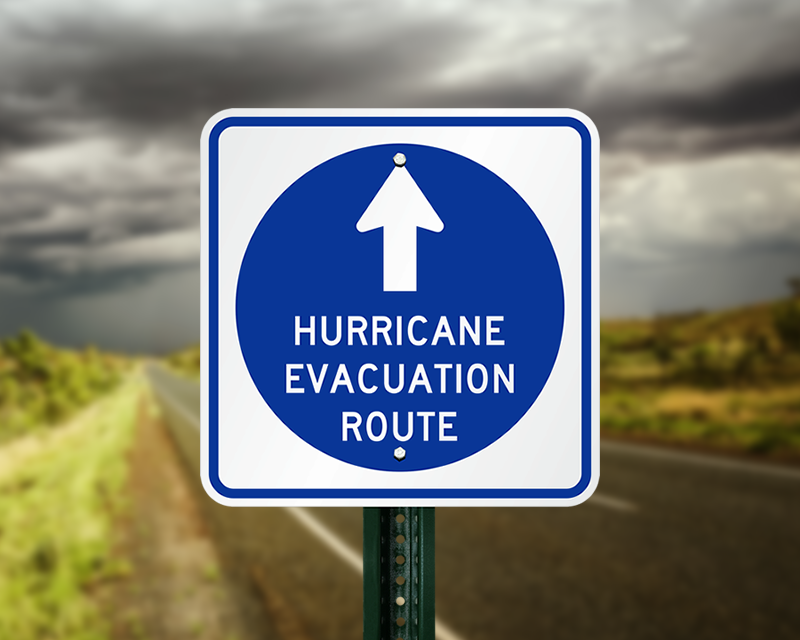 Image result for hurricane evacuation sign
