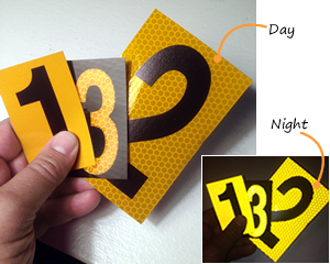 Reflective number stickers kamos sticker for Window cling letters and numbers
