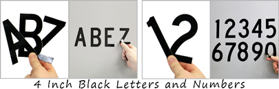 4 inch black non-reflective letters and numbers
