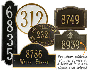 Double Line Architectural House Number & Lawn Plaques