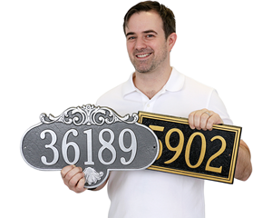 Rochelle Architectural House Number & Lawn Plaques