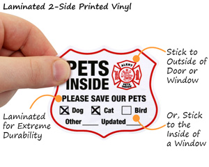 Pets Inside 2-Sided Label Set
