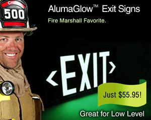 AlumaGlow Exit Signs