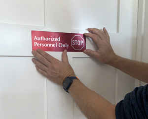 Authorized Personnel Only Door Sign