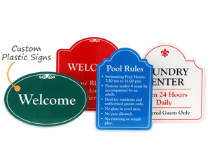 Custom outdoor plastic signs