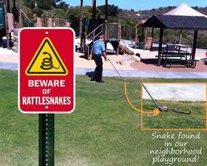 Beware of snake sign