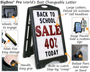 BigBoss® Pro changeable letter sign features