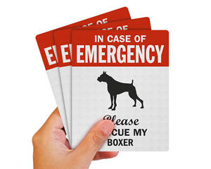 Boxer Pet Rescue Label