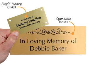 Brass memorial plaques