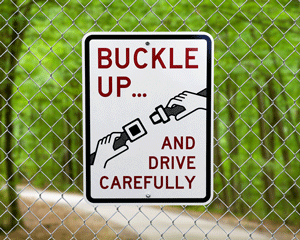 Buckle up safety signs