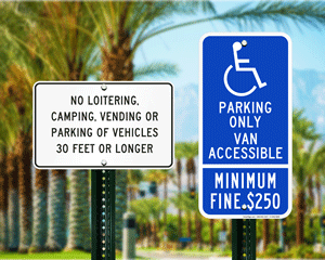 California Parking, Fire Lane, and Other Regulated Signs