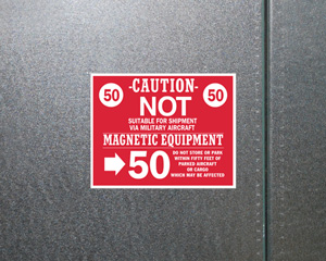 Caution Magnetic Equipment Packing-Labels