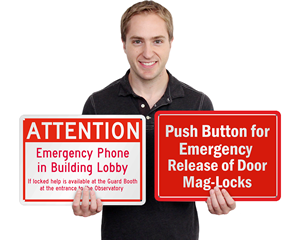 Custom emergency signs