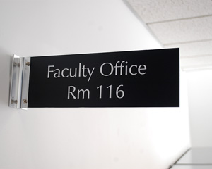 Custom Engraved Corridor Signs