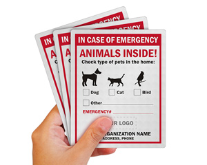 Custom In Case of Emergency Animals Inside