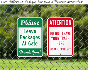 Custom please and instructional signs