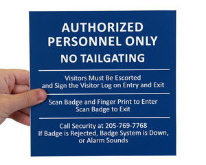 Common Engraved Signs (4 Inch to 9 Inch high)