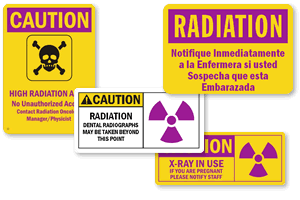 Custom Radiation Signs & Labels