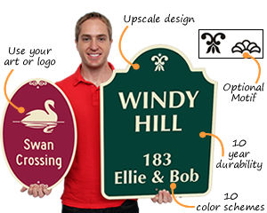 Custom decorative signs