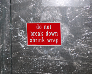 o Not Break Down Shrink Wrap Label