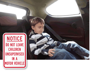 Unattended Children Signs