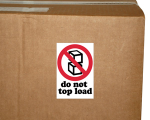 Do Not Top Load Label