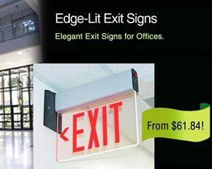 Edge-Lit Exit Signs