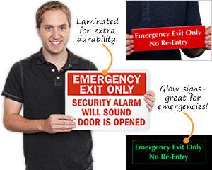 Emergency Door Sign