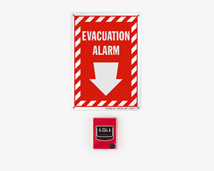 Emergency evacuation alarm sign