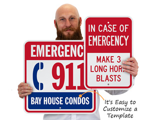 Emergency Signs Customize a Template