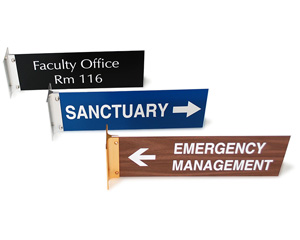 Engraved Corridor Signs
