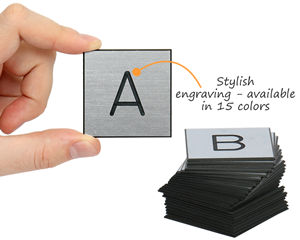 Engraved letters a-z