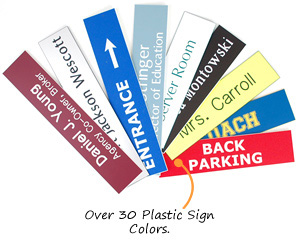 Engraved Plastic Sign Colors