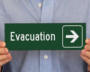 Evacuation arrow sign