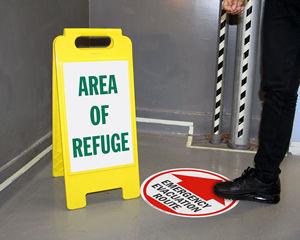 Evacuation floor signs