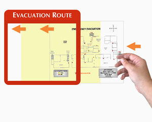 Evacuation map holders