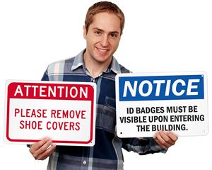Facility signs