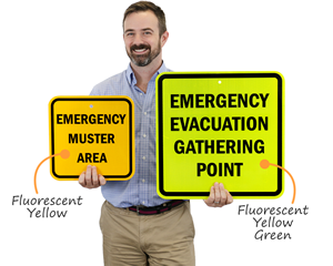 Emergency Evacuation Gathering Point Signs